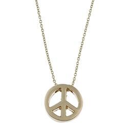 Goldtone Peace Charm Necklace