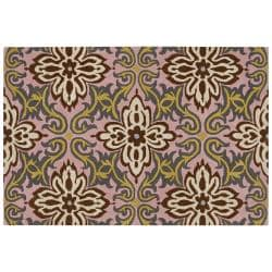 Amy Butler Pink Floral Hand-tufted New Zealand Wool Rug (5' x 7'6)