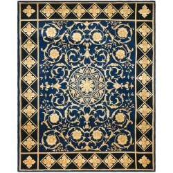 Asian Hand-knotted Majesty Royal Blue Wool Rug (6' x 9')