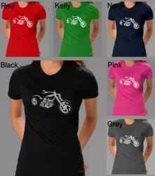 Los Angeles Pop Art Women's Motorcycle T-Shirt 7679998