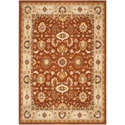 Safavieh Handmade Majesty Rust/ Beige New Zealand Wool Rug (5'3 x 7'6)