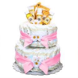 Girl's Burt's Bees Diaper Cake