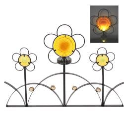 Iron Flower Fence Solar Light