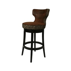 Augusta Wrangler Leopard 30-inch Wood Swivel Bar Stool
