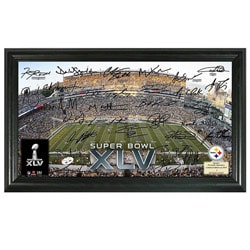Pittsburgh Steelers Super Bowl XLV Replica Signature Framed Photo 7698195