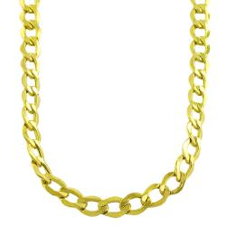 Fremada 10k Yellow Gold Curb Chain Necklace
