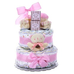 Girl's Two-tier Diaper Cake