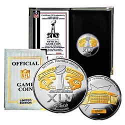 Super Bowl XLV Official Two-tone 24k Flip Coin 7700854