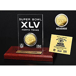 Super Bowl XLV Champion 24k Game Coin 7700856