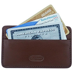 Leatherbay Antique Tan Leather Card Holder