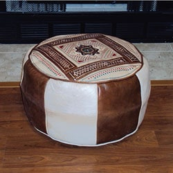 Leather Camel Berber Ottoman (Morocco)