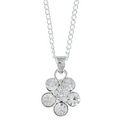 Crystale Created Stone Flower Necklace