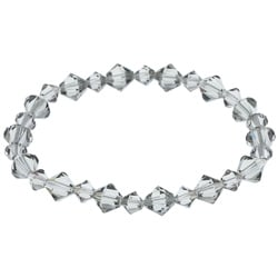 Crystale Black Crystal Stretch Bracelet