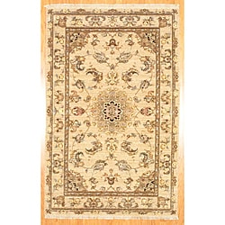 Herat Oriental Afghan Hand-Knotted Oushak Wool Rug (5'9 x 8'9) - 5'9 x 8'9 7705601