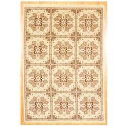 Herat Oriental Afghan Hand-knotted Oushak Mahal Rug (5'9 x 8'9) - 5'9 x 8'9 7705603
