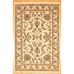 Herat Oriental Afghan Hand-Knotted Oushak Wool Rug (5'9 x 8'9) - 5'9 x 8'9 7705604