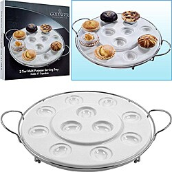 Godinger Two-tier Multi-purpose Serving Tray 7710567