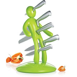 The Ex 2nd Edition Apple Green 5-piece Kitchen Knife Set