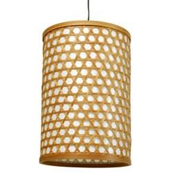 Bamboo 12-inch Desu Japanese-style Lattice Hanging Lantern (China)