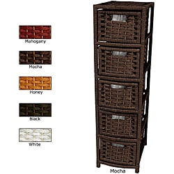 Natural Fiber 5-drawer Occasional Chest (China)