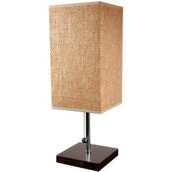 Hand-woven Tobacco Leaf 22-inch Nantou Lamp with Chrome Finish (China)