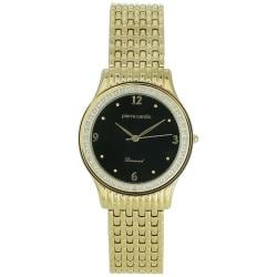 Pierre Cardin Men's Dress Goldtone Stainless Steel Black Dial Watch