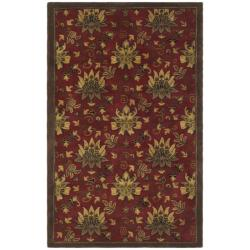 Safavieh Handmade Jardine Red/ Multi Wool Rug (8' x 10')