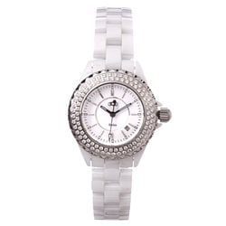 Ceramic Couture Women's White Water-Resistant Designer Watch