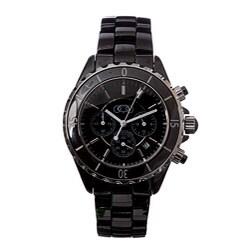 Ceramic Couture Men's Black Chronograph Ceramic Bracelet Watch