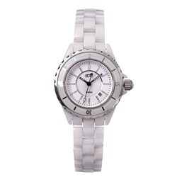 Ceramic Couture Women's White Designer Watch