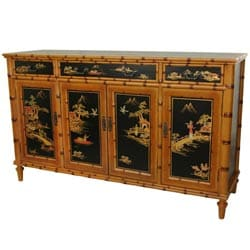 Black Wood 60-inch Ching Hall Cabinet (China)