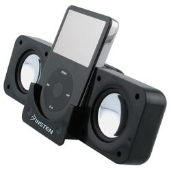 INSTEN Foldable Compact Aluminum Multimedia Speakers for Apple iPhone 4S/ 5S/ 6