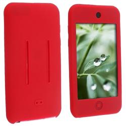 INSTEN Red Soft Silicone Skin iPod Case Cover for Apple iPod Touch 1st/ 2nd/ 3rd Gen