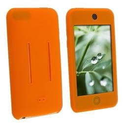 INSTEN Orange Soft Silicone Skin iPod Case Cover for Apple iPod Touch 1st/ 2nd/ 3rd Gen