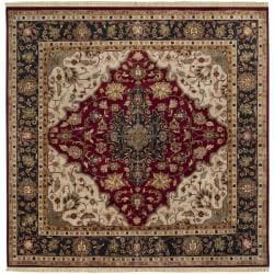 Hand-knotted Finial Burgundy Burgundy Wool Rug (8' Square)