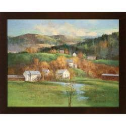 Fred MacNeil 'Distant Hills' Embellished Framed Art Print