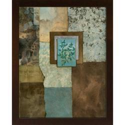 Norm Olson 'Petites Fleurs Sur Le Bleu II' Embellished Framed Art Print