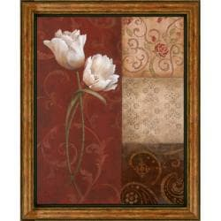 Nan 'Tulip Grace' Embellished Framed Art Print