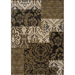 Dream Power-loomed Beige Panel Rug (7'10 x 9'10)
