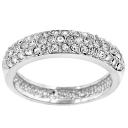 Kate Bissett Silvertone Crystal Pave Ring