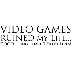 Design on Style Decorative 'Video Games Ruined My Life' Vinyl Wall Art Quote