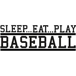 Design on Style Decorative 'Sleep Eat Play Baseball' Vinyl Wall Art Quote