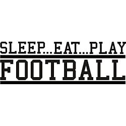 Design on Style Decorative 'Sleep Eat Play Football' Vinyl Wall Art Quote