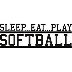 Design on Style Decorative 'Sleep Eat Play Softball' Vinyl Wall Art Quote