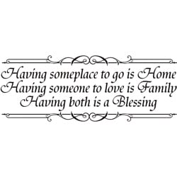 Design on Style Decorative 'Having someplace to go is home...' Vinyl Wall Art Quote