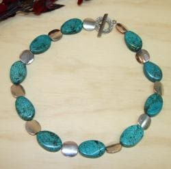 Susen Foster Silverplated Cool Water Turquoise Necklace