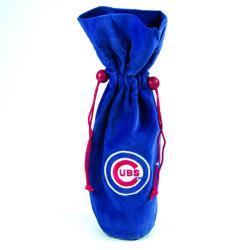 MLB Chicago Cubs 14-inch Velvet Wine Bottle Bag 7774219