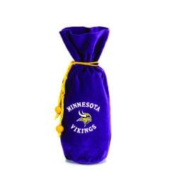 Minnesota Vikings 14-inch Velvet Wine Bottle Bag