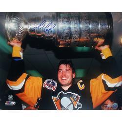 Steiner Sports Mario Lemieux Stanley Cup Overhead Autograph Photo 7791688