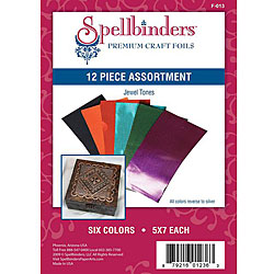 Spellbinder's Jewel Tones Craft Foil (Pack of 12)